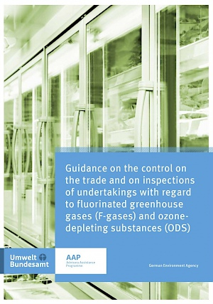Cover Guidance on the control on the trade and on inspections of undertakings with regard to fluorinated greenhouse gases (f-gases) and ozone-depleting substances (ODS), 2017